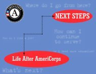 Next Steps: Life After Americorps - National Service Knowledge ...