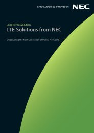 LTE Solutions from NEC