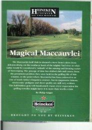 HEINEKE - Maccauvlei Golf Club