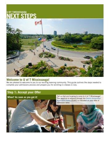 NEXT STEPS - University of Toronto Mississauga