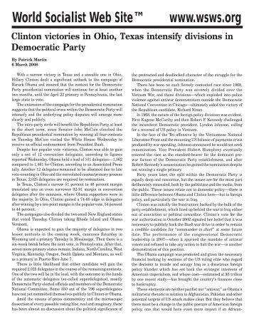 main divisions within the democrat party essay Politics of the 1870s and 1880s on the issues and when the platforms of the two main national political parties the democrat's second significant era.