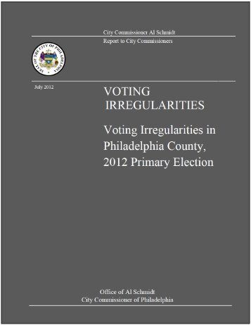 Voting by Individuals in the Incorrect Party's Primary - Philly.com