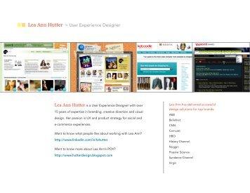Lea Ann Hutter > User Experience Designer