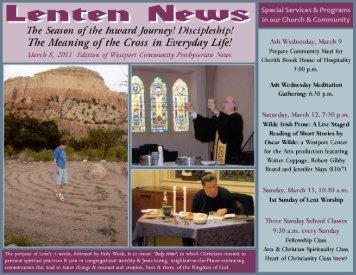 newsletter headline march 2011 - Westport Presbyterian Church