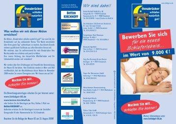 Flyer schlafgut-os.de - Betten KIRCHHOFF