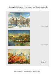 Katalog Kunstdrucke – Merseburg und Burgenlandkreis