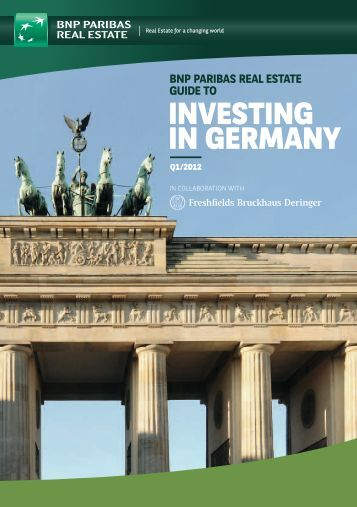 InVEStInG In GErMany - BNP Paribas Real Estate