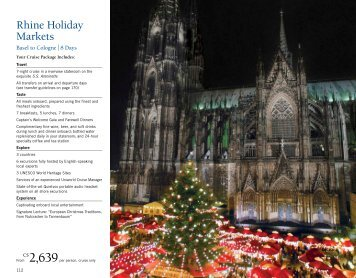 Rhine Holiday Market - Uniworld Boutique River Cruises