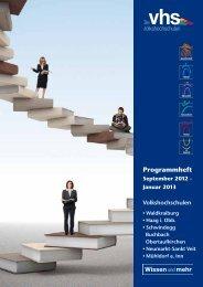 Programmheft - Volkshochschule Mühldorf a. Inn