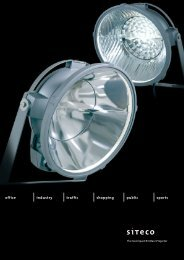 Download brochure (pdf) - SITECO Lighting