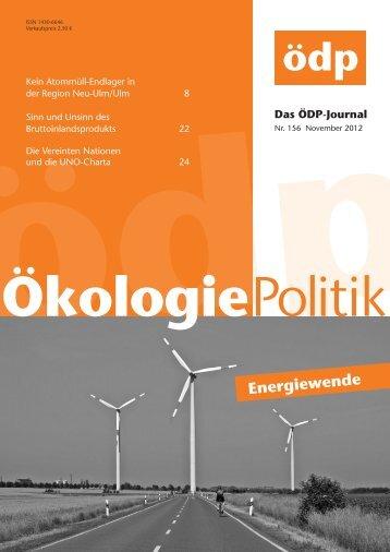 Titelthema: Energiewende - ÖDP Niedersachsen