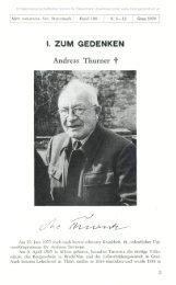 I. ZUM GEDENKEN Andreas Thurner C