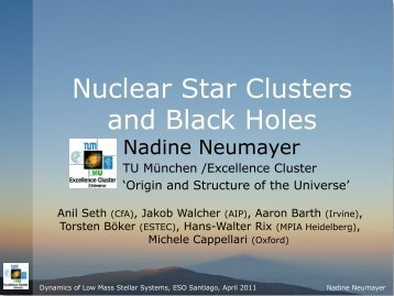 Nuclear Star Clusters and Black Holes - ESO