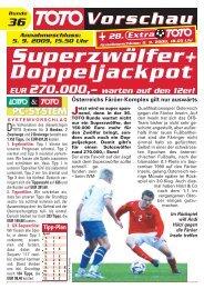 warten auf den 12er! Doppeljackpot Superzwölfer+ - win2day