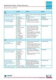Application Notes: X-Ray Detectors - L.O.T.-Oriel