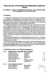 Rote Liste der in der Steiermark gefährdeten Vogelarten (Aves)