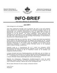 INFO-BRIEF Juni 2011 - University of Alberta