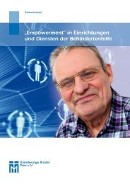 """""""Empowerment"""" in Einrichtungen und Diensten der Behindertenhilfe"""