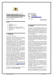 SVN Projekt Newsletter - Ministerium für Kultus, Jugend und Sport