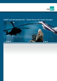 CONET und die Bundeswehr - Starke Partner für ... - CONET Group