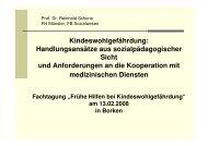 Vortrag Prof. Dr. Reinhold Schone, FH Münster, FB - Kreis Borken