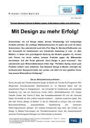 Mit Design zu mehr Erfolg! - TMG
