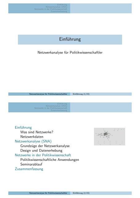 Einführung - Kai Arzheimer