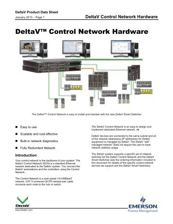 DeltaV Control Network Hardware - Emerson Process Management
