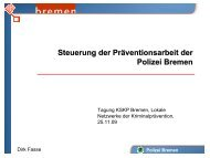 Dirk Fasse - Kooperationsstelle Kriminalprävention Bremen
