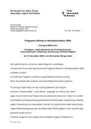 Renate Siegel - Kooperationsstelle Kriminalprävention Bremen