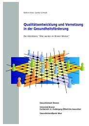 Qualitätsentwicklung und Vernetzung in der Gesundheitsförderung