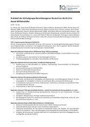 Protokoll 26.10. - Netzwerk IQ - Fachstelle Berufsbezogenes Deutsch