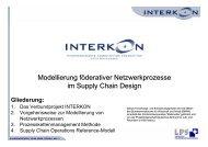 Modellierung föderativer Netzwerkprozesse im Supply Chain Design