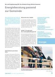 Energieberatung passend zur Gemeinde - Kanton Zürich
