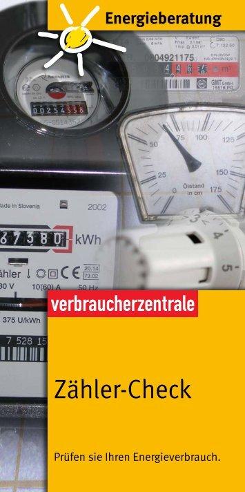 Zähler-Check - Verbraucherzentrale Energieberatung