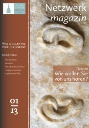 Netzwerk magazin Januar 2013 - Alfred Toepfer Stiftung F.V.S.