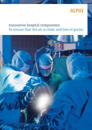 hospital components: brochure PDF - Alpiq Intec Schweiz