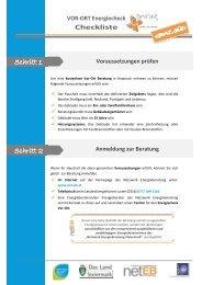 Checkliste VOR-ORT-Energiecheck PLUS Beratung GRAZ SÜD