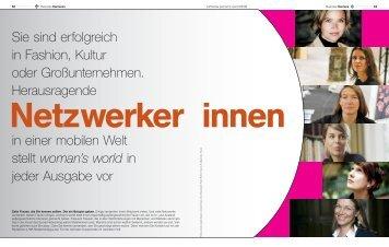 Lufthansa Woman´s World Netzwerkerinnen 03/2008 - Artist Network