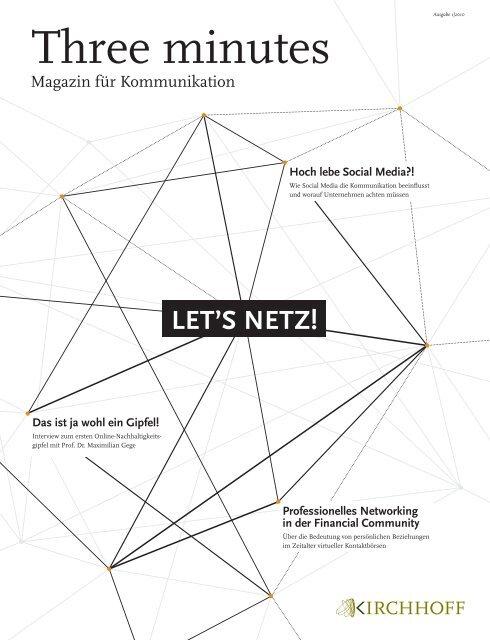 """Three minutes"" Let's Netz 01/2010 (PDF 5 - Kirchhoff Consult AG"