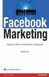 Facebook Marketing - *978-3-8273-3107-6 ... - Addison-Wesley