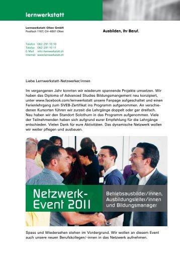 Netzwerk- Event 2011 - Lernwerkstatt Olten