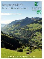 Informationen über das Große Walsertal - Schäfer Bergappartements
