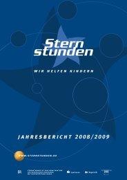jahresbericht 2008/2009 - Sternstunden eV