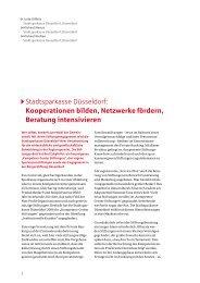 Kooperationen bilden, Netzwerke fördern, Beratung intensivieren