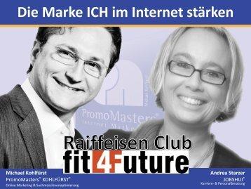 2.0 FIT für Job & Karriere – Die Marke ICH im Internet - fit4Future