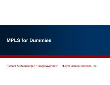 mpls for dummies n49 (PDF) - nanog