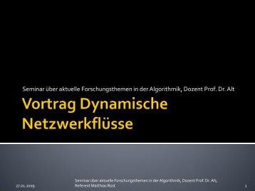 Seminar über aktuelle Forschungsthemen in der Algorithmik, Dozent