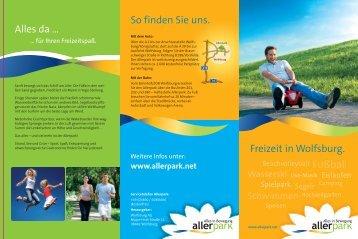 """Download - Broschüre """"Allerpark"""" (*PDF - 1,2 MB - öffnet - Wolfsburg"""