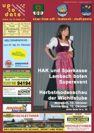 HAK und Sparkasse Lambach boten Superevent ... - Up-to-date